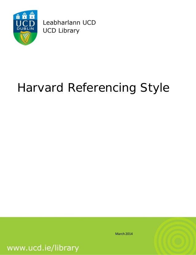 How To Reference A Dissertation Harvard