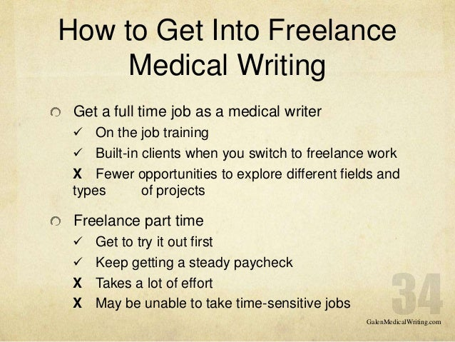 How to get into writing