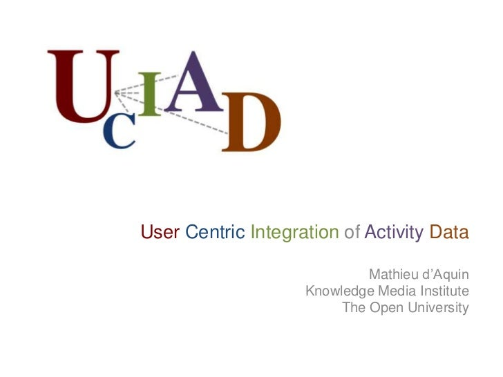 User Centric Integration of Activity Data<br />Mathieu d'Aquin<br />Knowledge Media Institute<br />The Open University<br />
