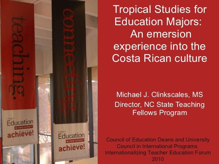 Clinkscales- Tropical Studies