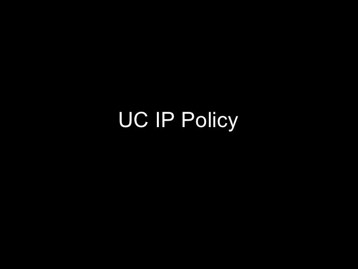 UC IP policy