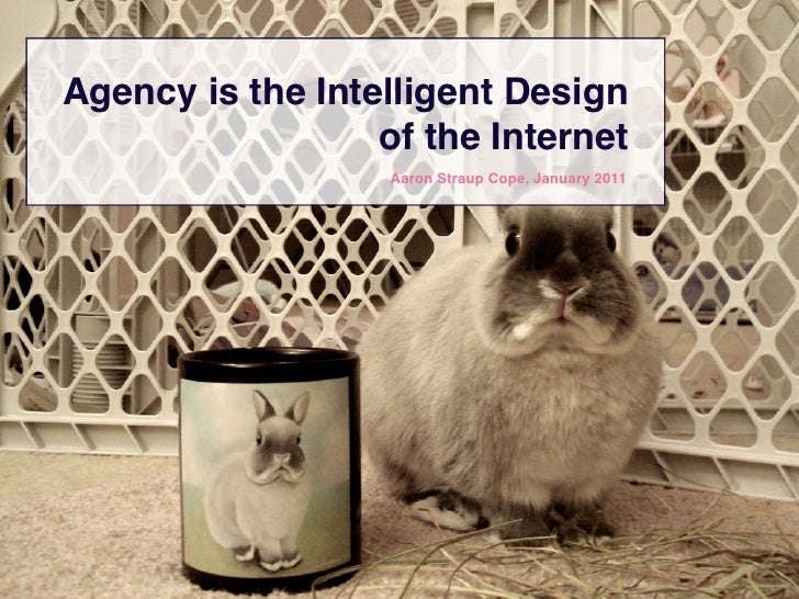 Agency is the Intelligent Design                  of the Internet                   Aaron Straup Cope, January 2011
