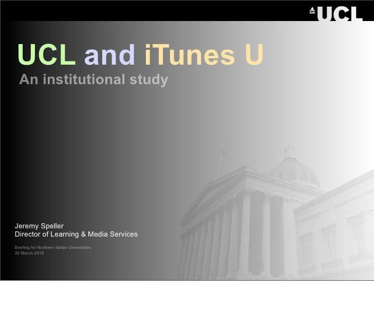 UCL and iTunes U: Milan