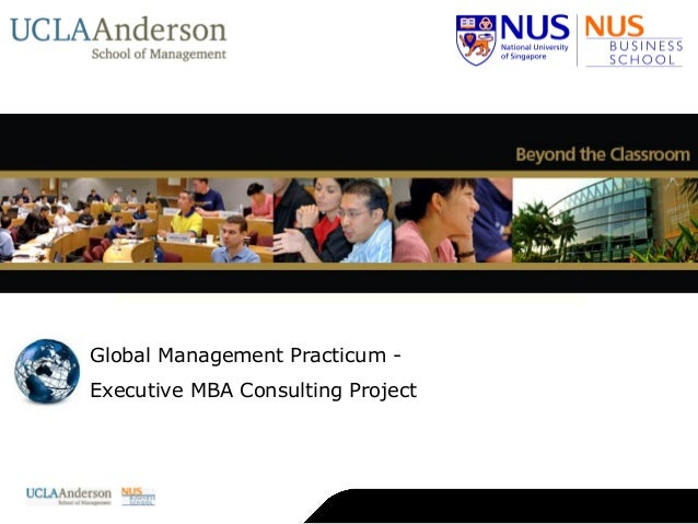Global Management Practicum - Executive MBA Consulting Project   About NUS   About NUS Business School   Deans   Academic ...