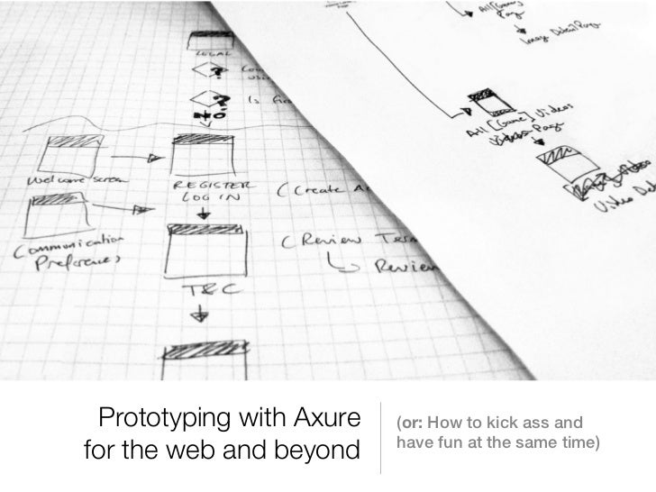 Prototyping with Axure   (or: How to kick ass and                          have fun at the same time)for the web and beyond