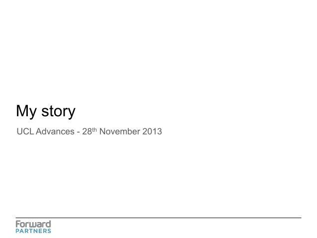 Presentation to UCL Nov 2013