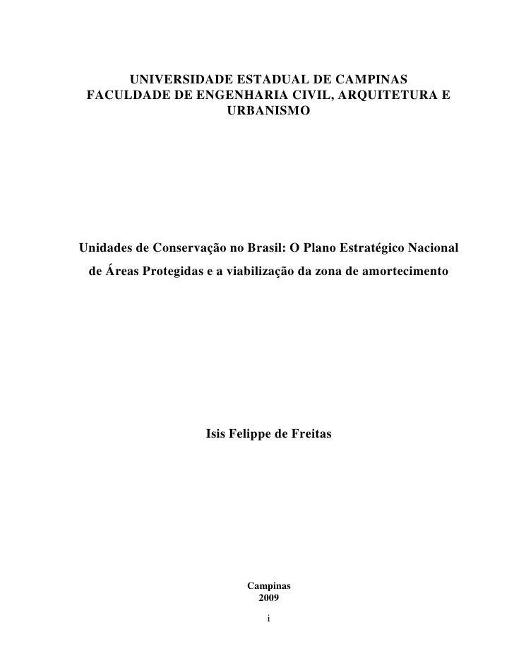 UNIVERSIDADE ESTADUAL DE CAMPINAS  FACULDADE DE ENGENHARIA CIVIL, ARQUITETURA E                  URBANISMO     Unidades de...