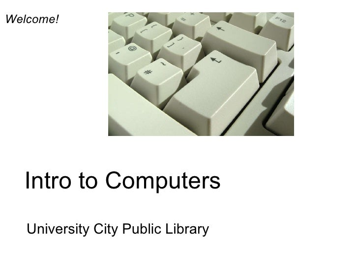 UCPL Intro To Computers