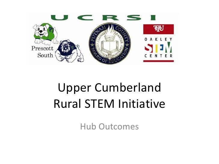 Upper CumberlandRural STEM Initiative    Hub Outcomes