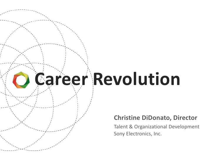 Career Revolution         Christine DiDonato, Director         Talent & Organizational Development         Sony Electronic...
