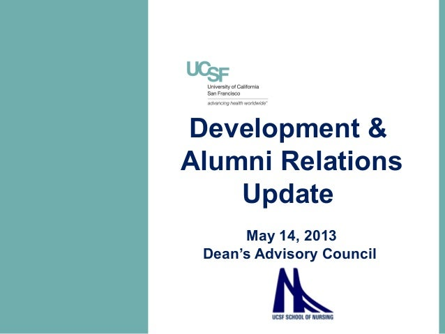 Development &Alumni RelationsUpdateMay 14, 2013Dean's Advisory Council