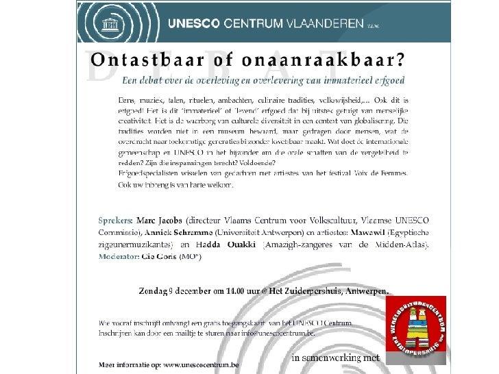 Ucv Debat   Immaterieel Erfgoed 2007