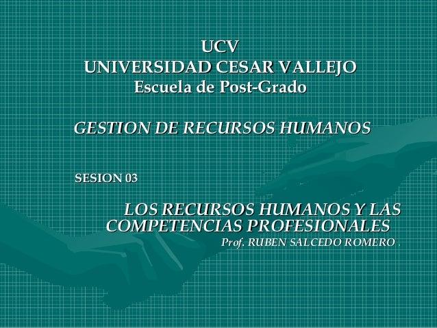 UCVUCVUNIVERSIDAD CESAR VALLEJOUNIVERSIDAD CESAR VALLEJOEscuela de Post-GradoEscuela de Post-GradoGESTION DE RECURSOS HUMA...