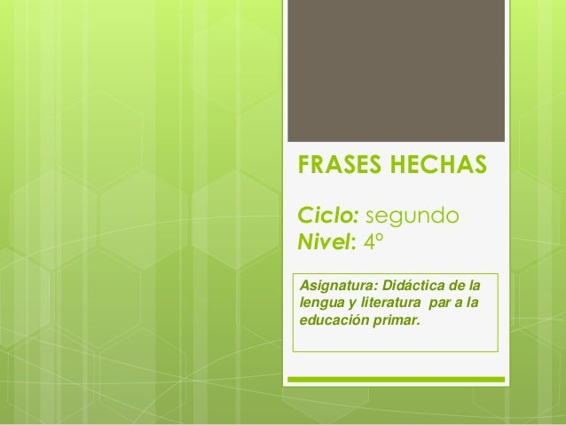 Ud.frases hechas