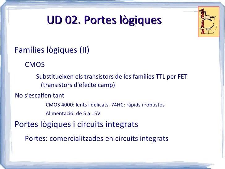 4eso ud 02 electr nica digital for Portes logiques cmos
