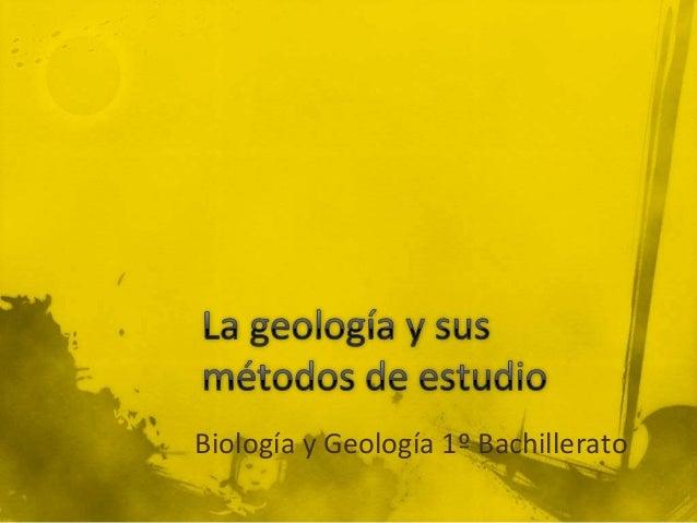 Biología y Geología 1º Bachillerato