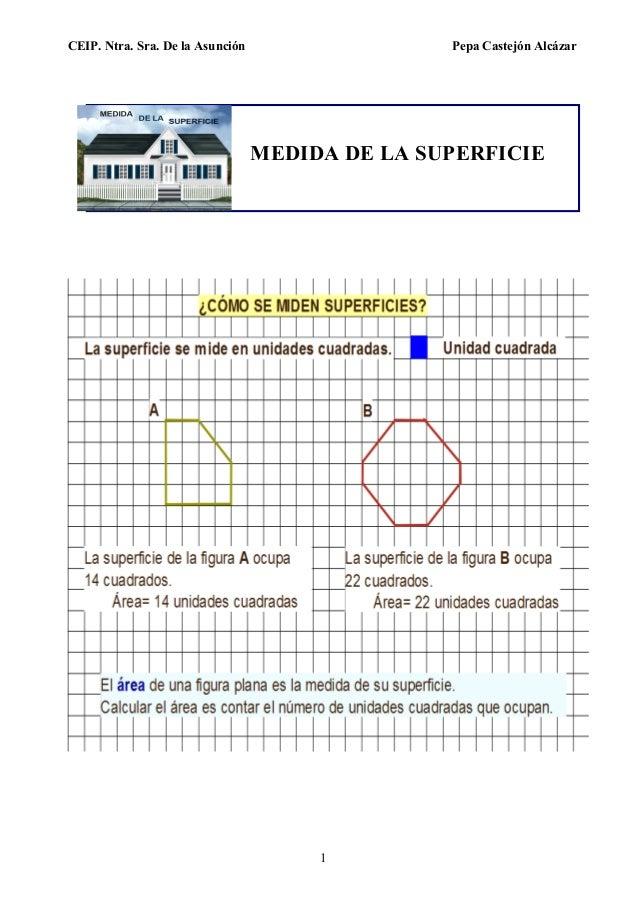 CEIP. Ntra. Sra. De la Asunción Pepa Castejón Alcázar 1 MEDIDA DE LA SUPERFICIE