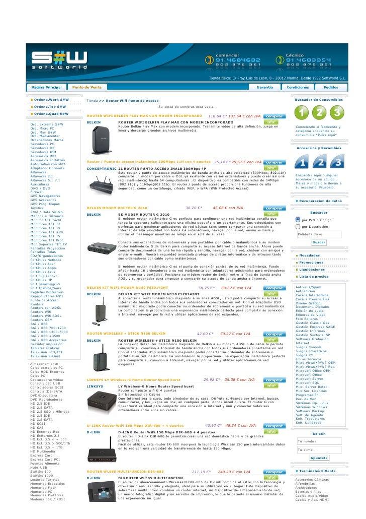 Ordena.Work S#W       Tienda >> Router Wifi Punto de Acceso                                                               ...