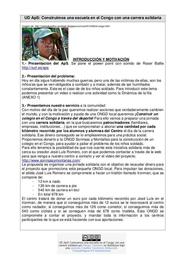 UD ApS: Construimos una escuela en el Congo con una carrera solidaria Imagen de: http://caldodegallina-santiago.blogspot.c...