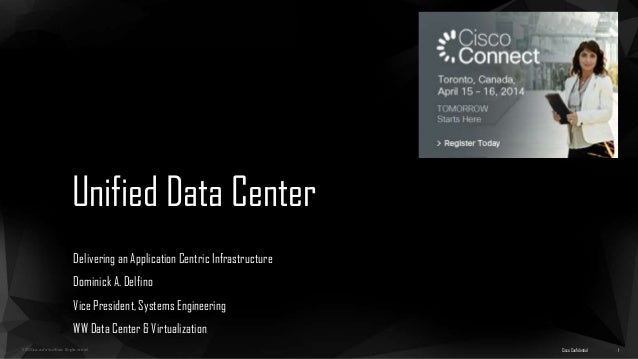 ©2013 Cisco and/or its affiliates. All rights reserved. Unified Data Center Delivering an Application Centric Infrastructu...