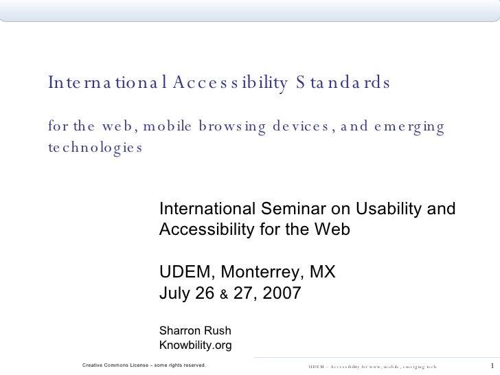 Udem 2007 Accessibility Standards