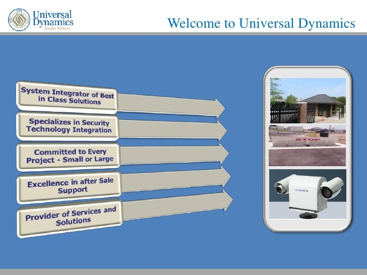 Welcome to Universal Dynamics