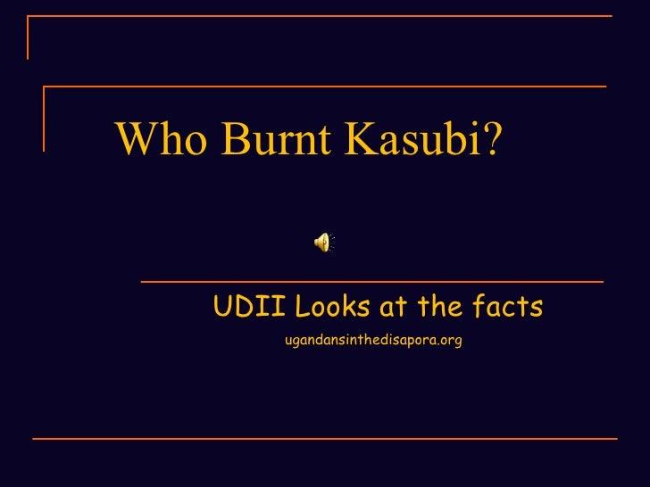 UDII  on Kasubi