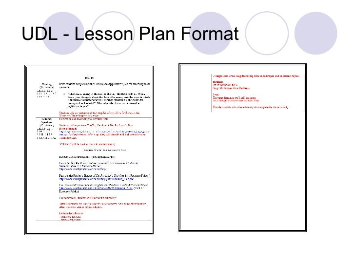 Udl Lesson Plan Template – Printable Editable Blank