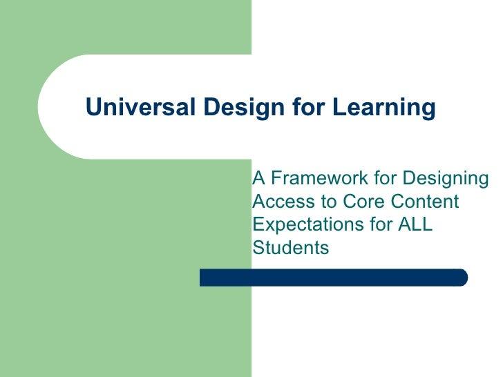 Udl Presentation Feb07