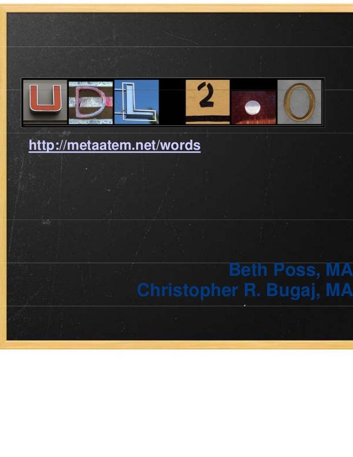 http://metaatem.net/words                                     UDL 2 0                                         2.0         ...
