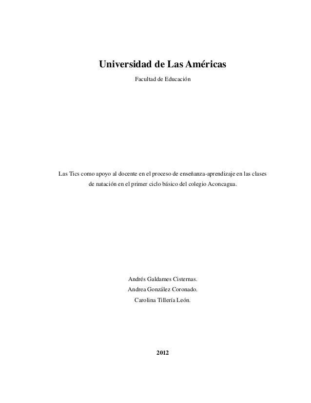 Udla 2012   andres galdames,  andrea gonzalez, carolina tilleria