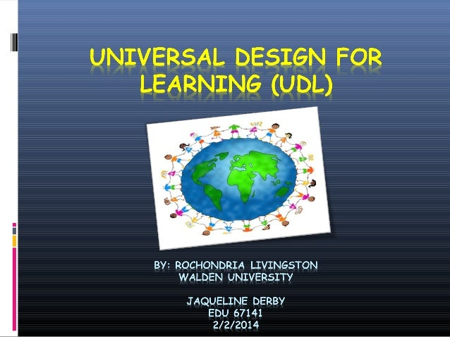 """What is Universal Design for Learning? """" a set of principles for curriculum development that gives all individuals equal o..."""