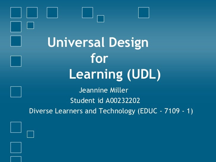UDL Presentation: Sharing Ideas and Building Resources