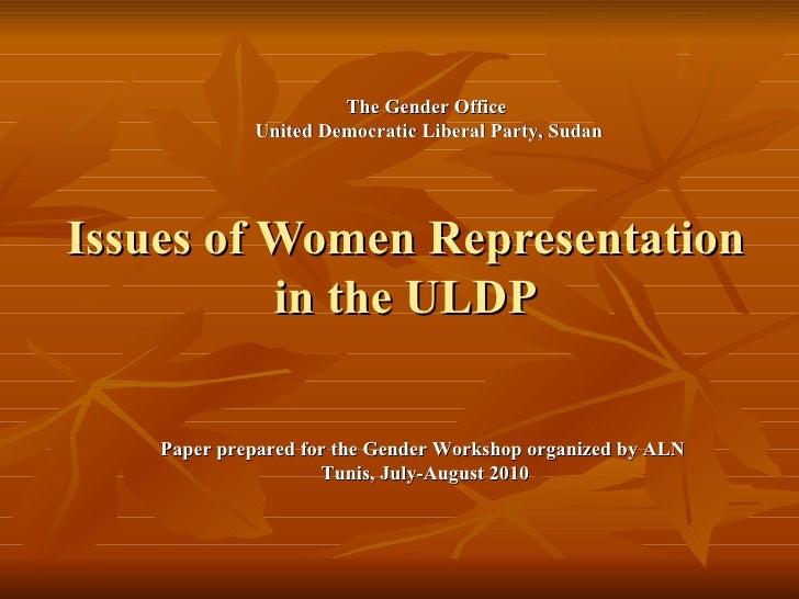 Udlp gender-representzation
