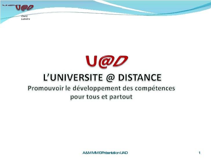 A&M MM – Présentation UAD