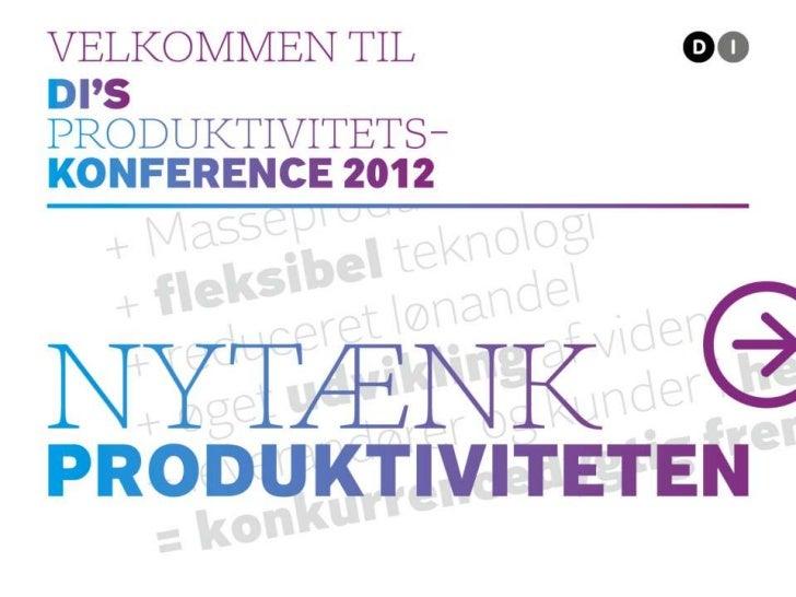 Produktivitetskonference 2012
