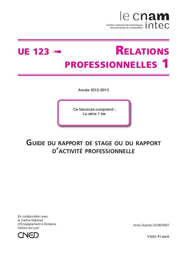 En collaboration avec le Centre National d'Enseignement à Distance Institut de Lyon V1231-F1 bis/4 Anne-Sophie CONSTANT UE...