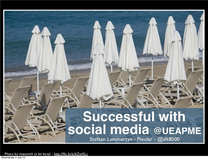 Successful with                                           social Lammertyn - Pixular @UEAPME                              ...