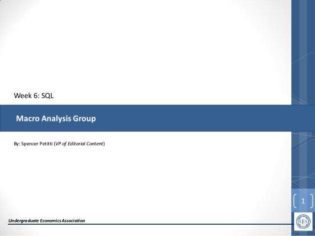 SQL Workshop