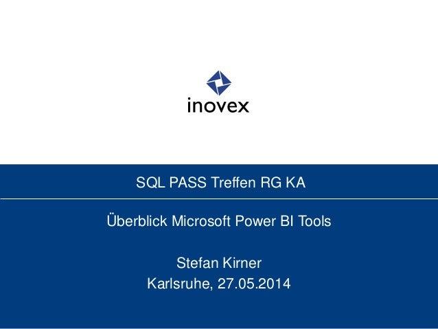 Überblick Power BI Tools