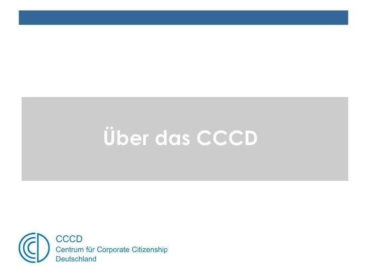 Über das CCCD - Centrum für Corporate Citizenship Deutschland e.V.