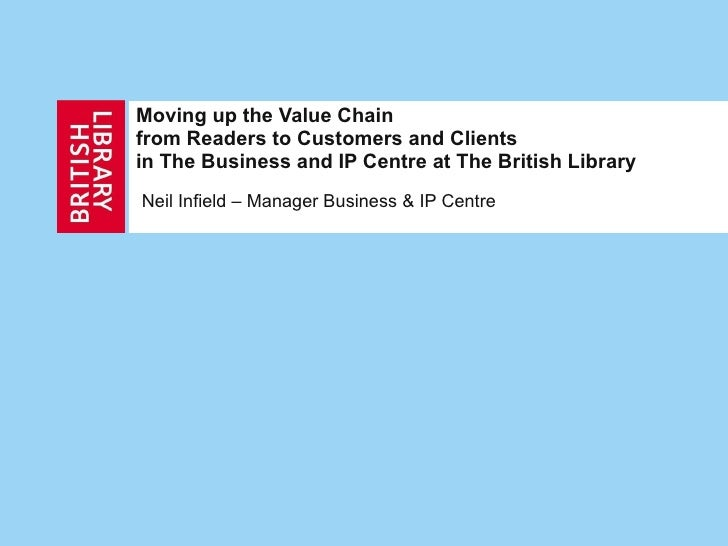 Moving up the Value Chain from Readers to Customers and Clients  in The Business and IP Centre at The British Library Neil...