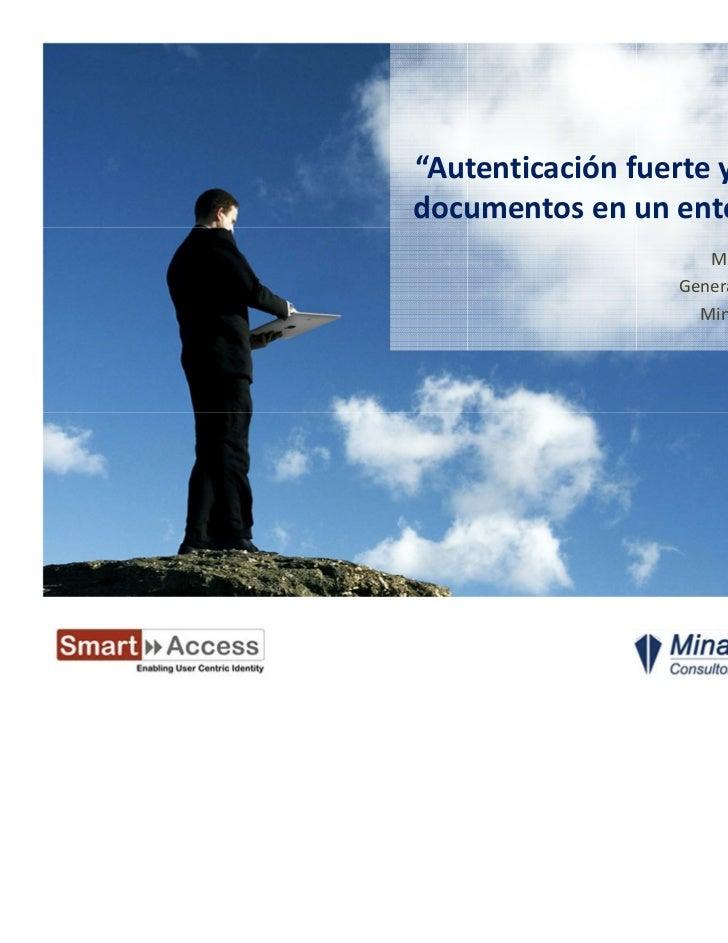 Autenticación y firma electrónica en entornos de puestos virtuales (VDI) con DNI electrónico y smart cards