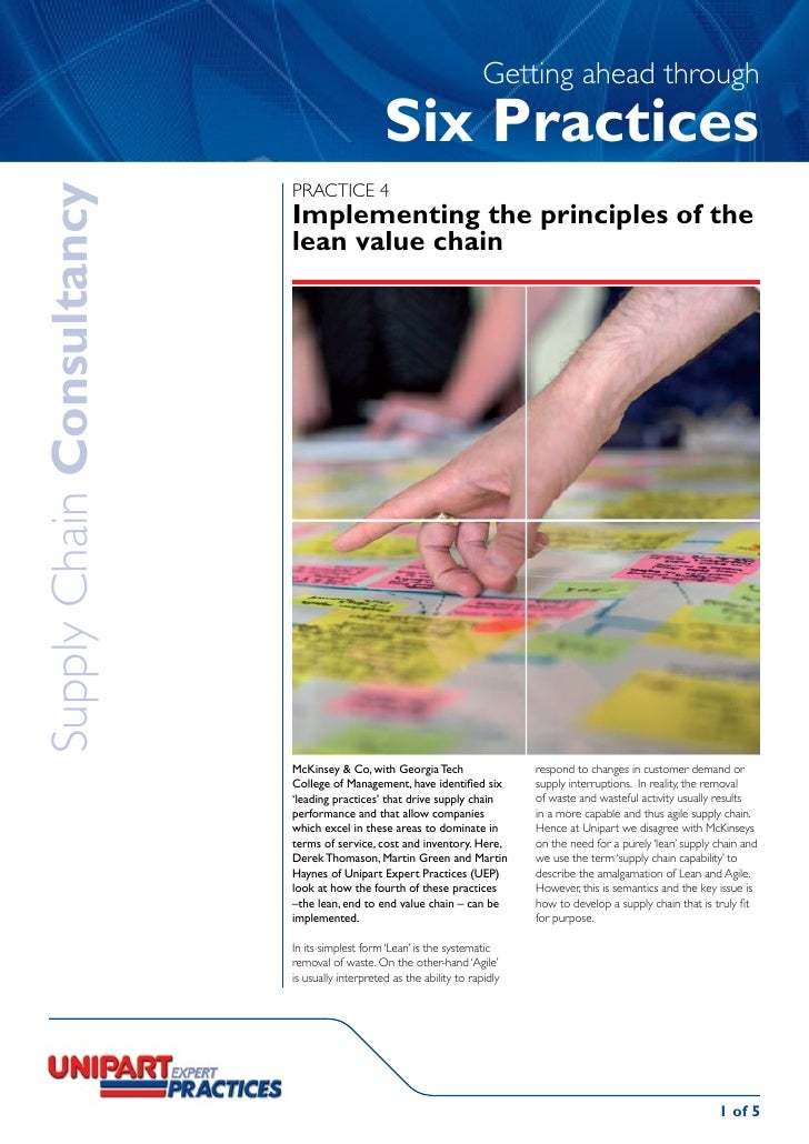 UEP Getting Ahead Through Six Practices, Practice 4 Lean And Agile Supply Chain