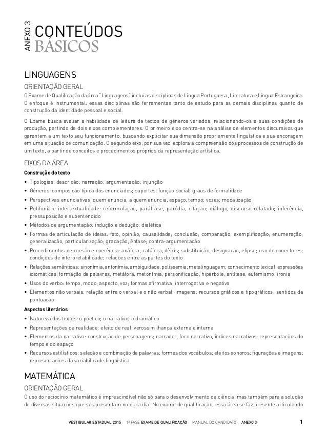 """LINGUAGENS ORIENTAÇÃO GERAL O Exame de Qualificação da área """"Linguagens"""" inclui as disciplinas de Língua Portuguesa, Litera..."""
