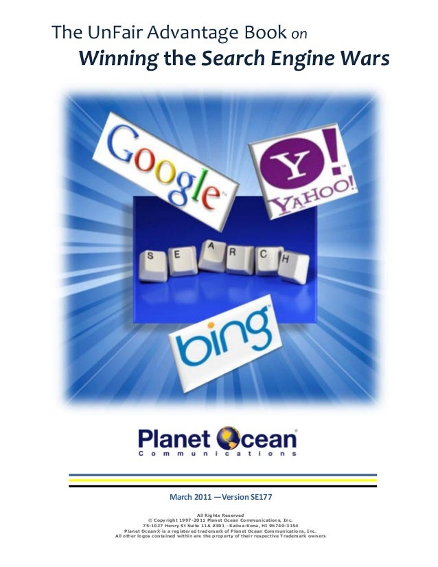 SEO Winning the Search Engine Wars - The UnFair Advantage book