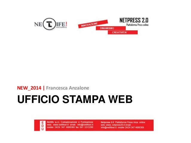 Ufficio stampa Web NEW!