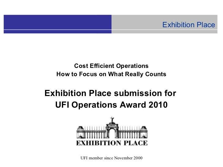UFI Operations Award 2010 - Direct Energy Center