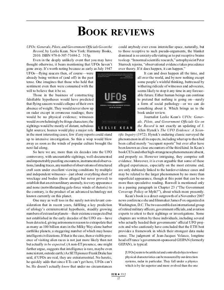 Ufo book reviews