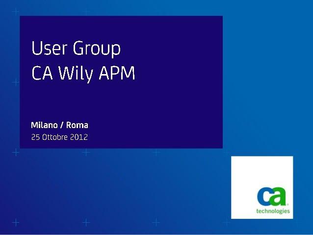 Ug  apm - agenda usergroup apm 2012